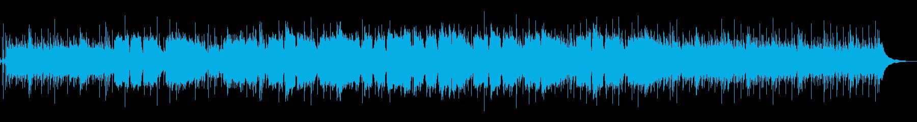 ほのぼのとした弦と笛による和風系BGMの再生済みの波形