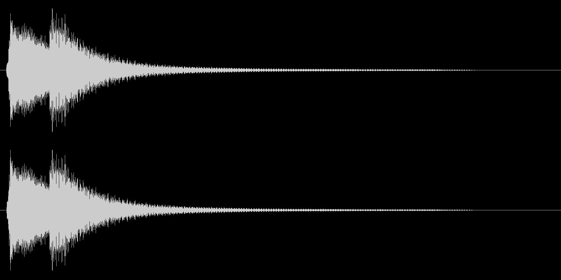 チリーン(エラー、警告音)の未再生の波形