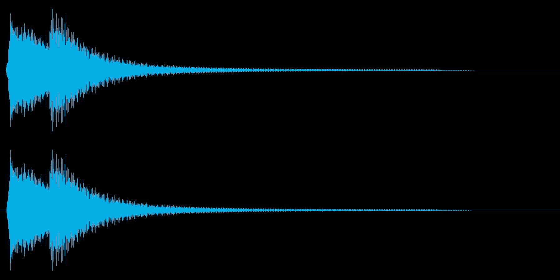 チリーン(エラー、警告音)の再生済みの波形