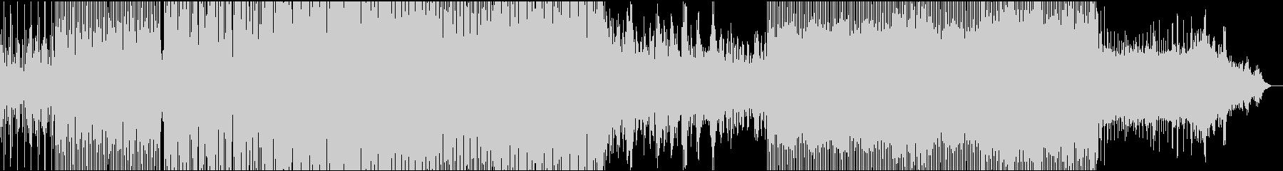 4つ打ちビートが効いたエレクトロサウンドの未再生の波形