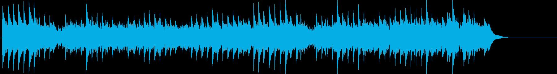 Dm三拍子のピアノソロの再生済みの波形