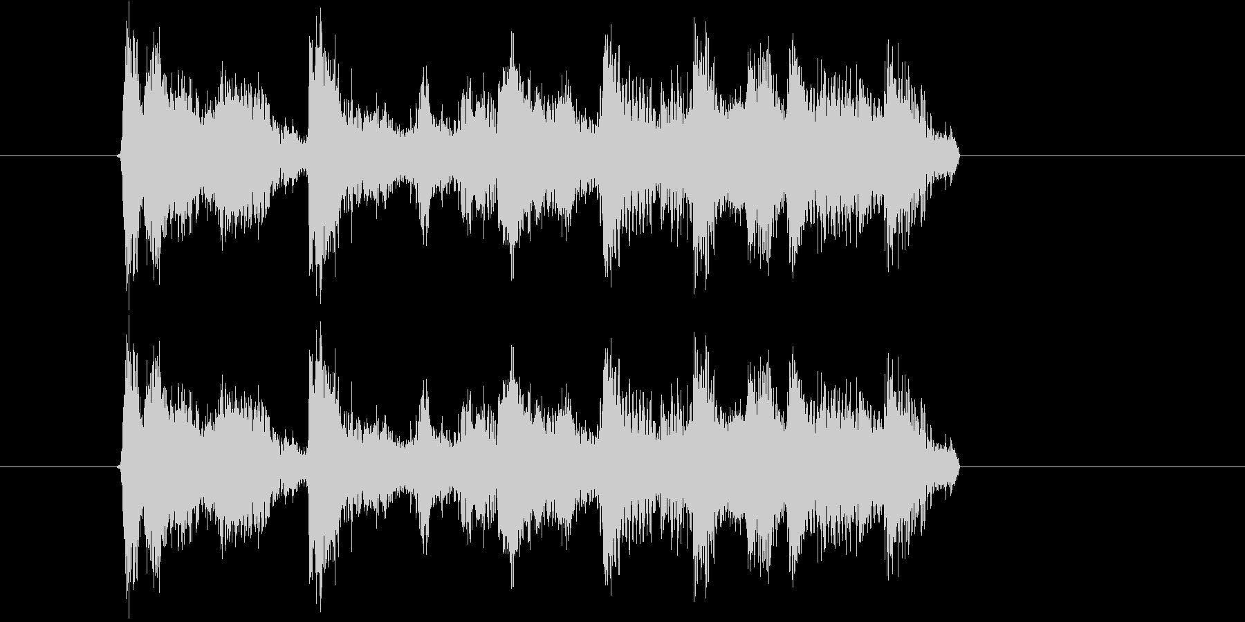 ハイテンションなポップスの未再生の波形