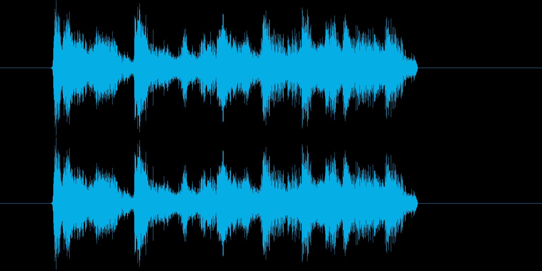 ハイテンションなポップスの再生済みの波形