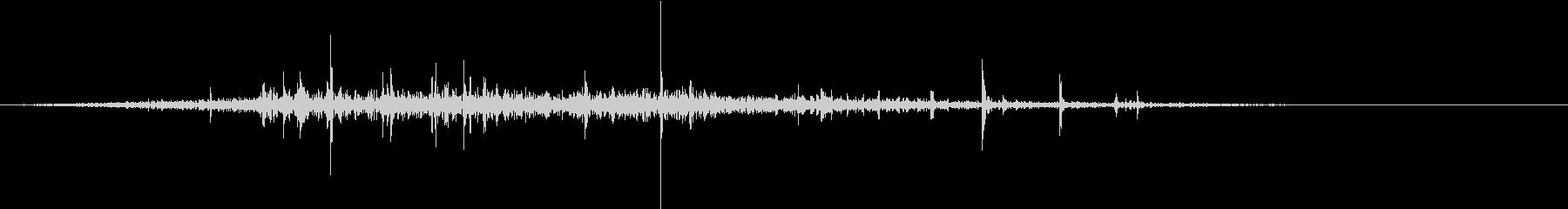 【生録音】布団を剥がす音 2の未再生の波形