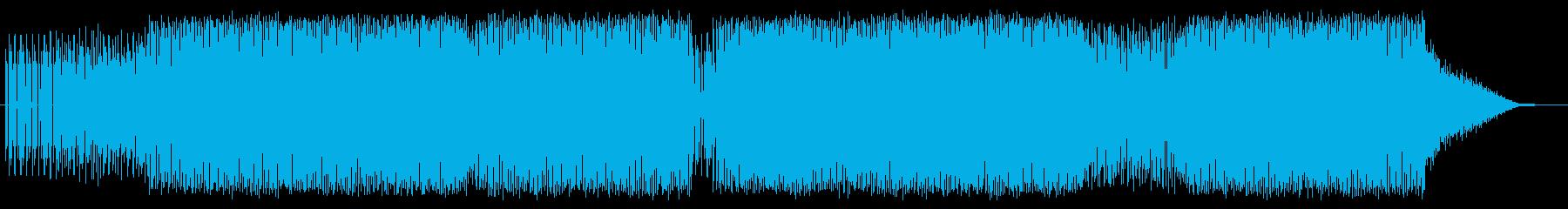 美しいメロディテクノの再生済みの波形