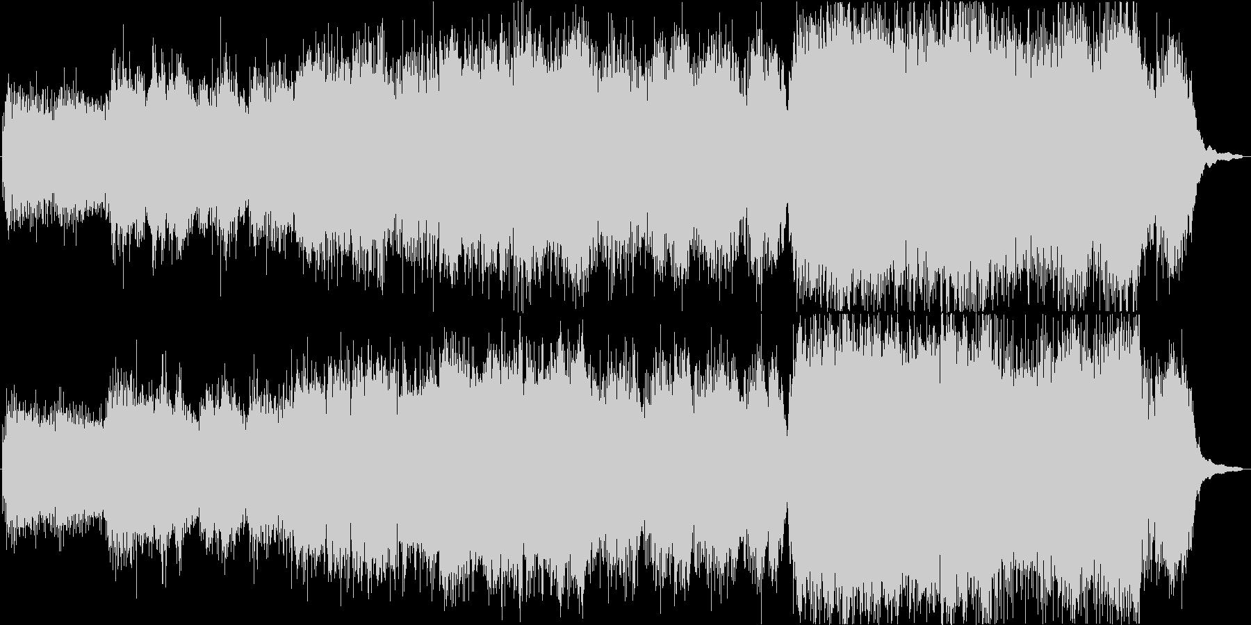 バイオリン中心のフワッとした軽やかな曲の未再生の波形