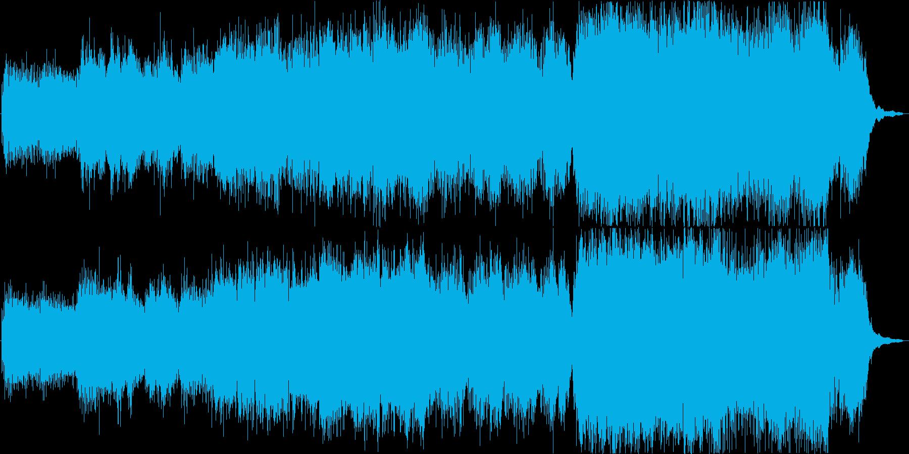 バイオリン中心のフワッとした軽やかな曲の再生済みの波形