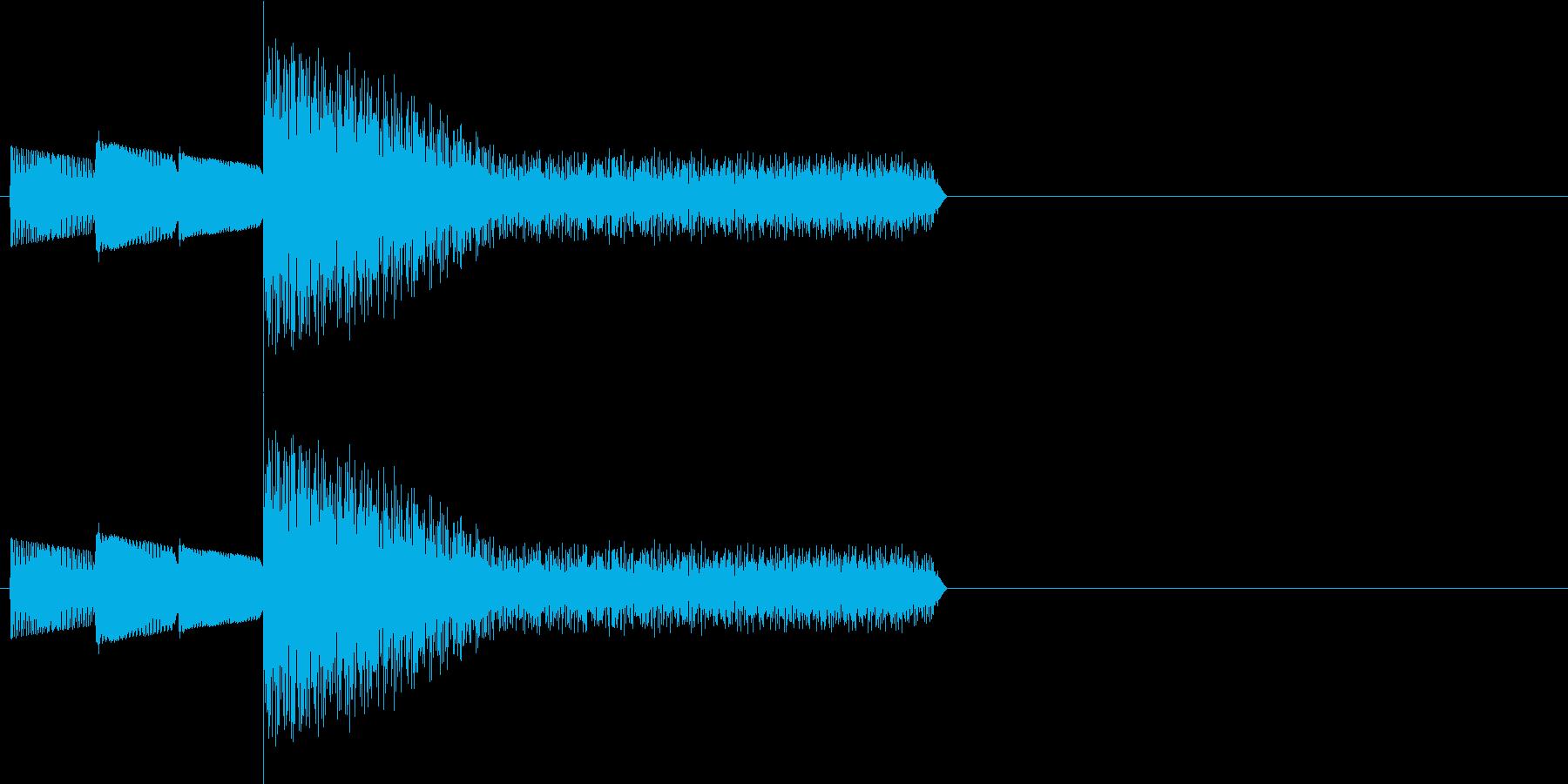 レトロゲーム風・スタート#1の再生済みの波形
