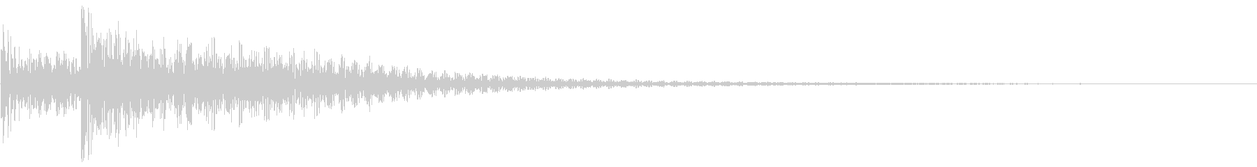 ドドン(ティンパニ)の未再生の波形
