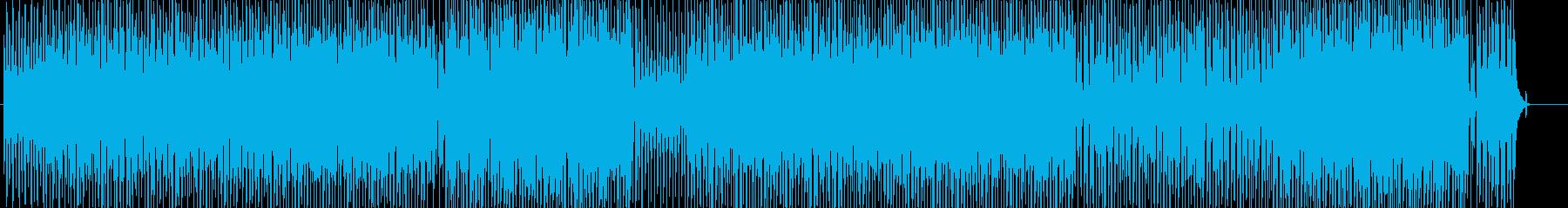 アコースティックな明るいウクレレと口笛の再生済みの波形