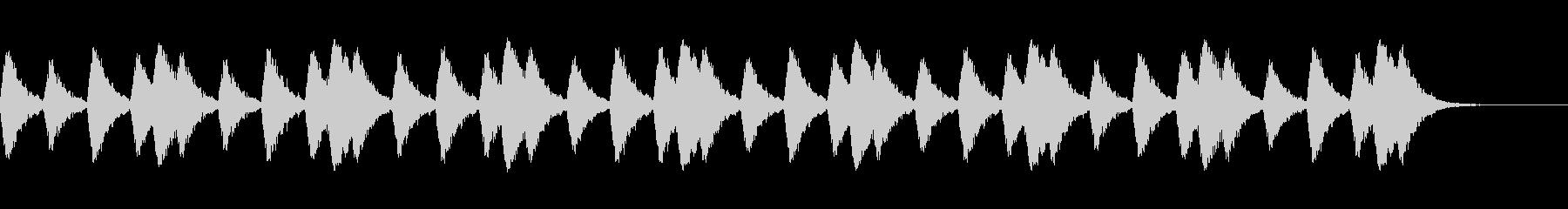 行進をイメージしたスネアドラムの音の未再生の波形