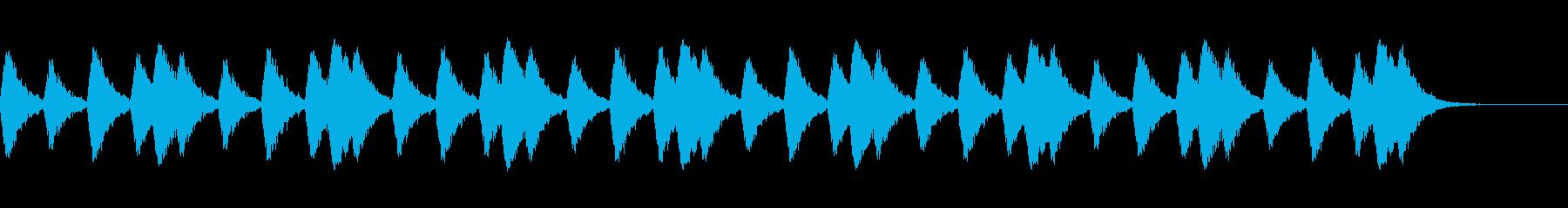 行進をイメージしたスネアドラムの音の再生済みの波形