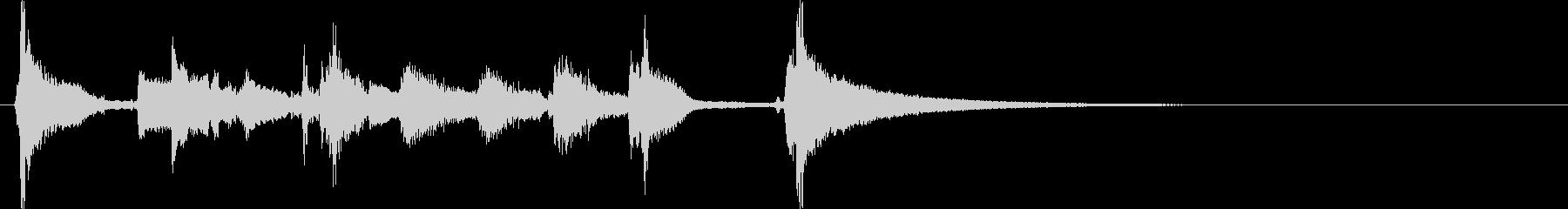 明るくてかわいいウクレレと鉄琴のジングルの未再生の波形