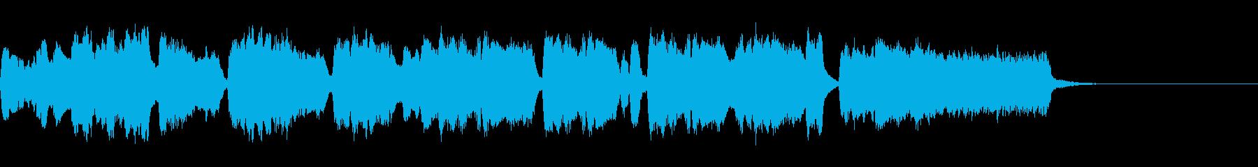 シンプルなオープニングファンファーレ2の再生済みの波形