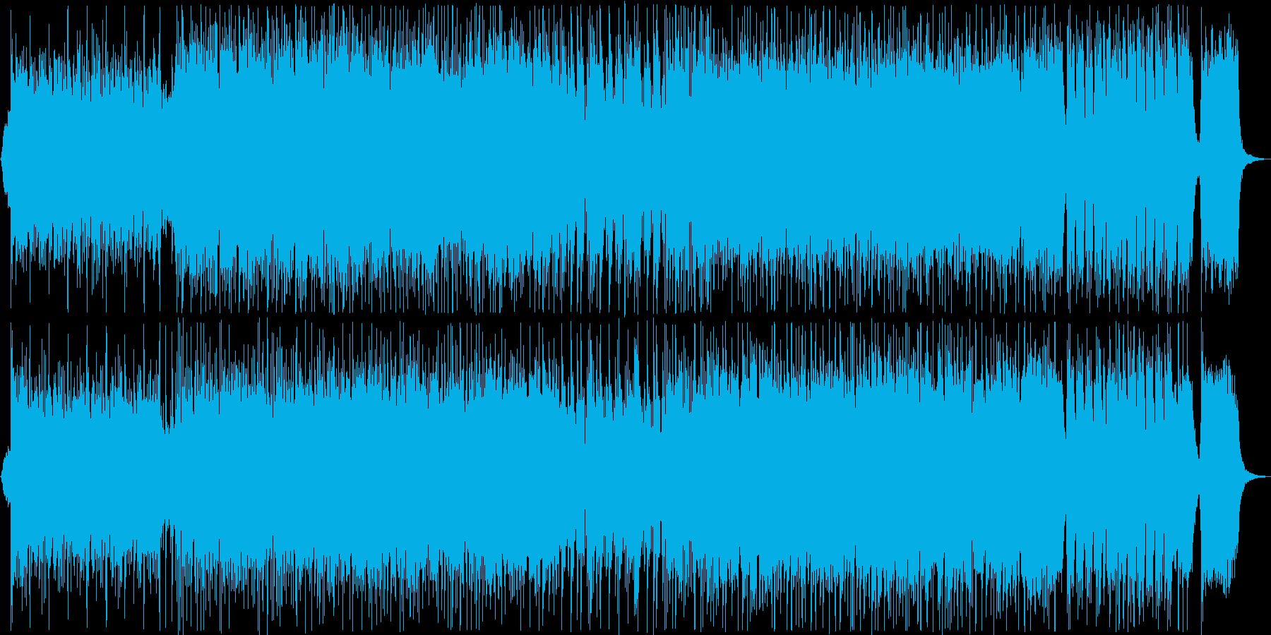 迫力のある和風曲の再生済みの波形