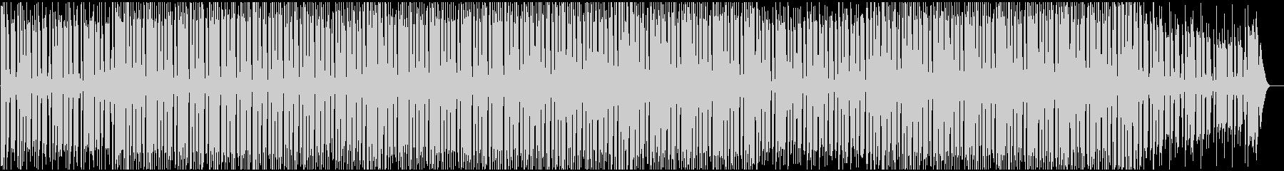 ニュースの裏で流れるようなハウスBGMの未再生の波形