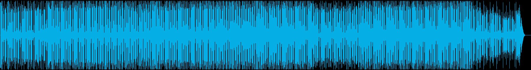 ニュースの裏で流れるようなハウスBGMの再生済みの波形