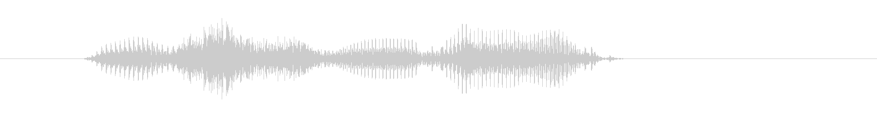 後ろ(うしろ)の未再生の波形