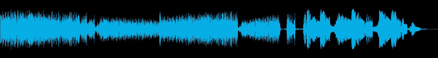 静電スワイプ5の再生済みの波形