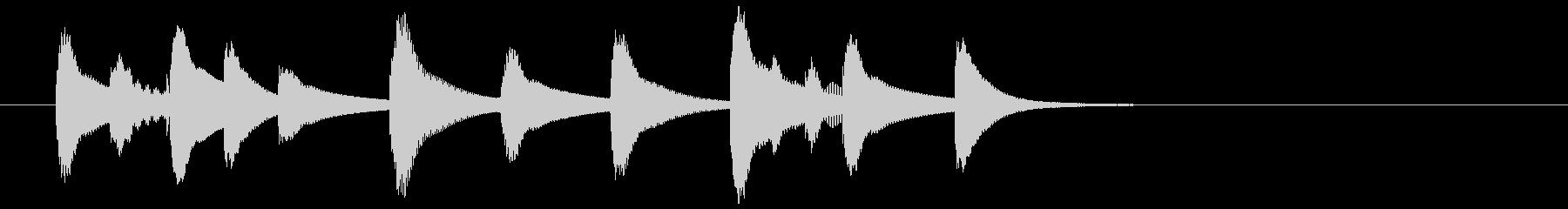 マリンバ・ジングル・場面転換・切り替えの未再生の波形