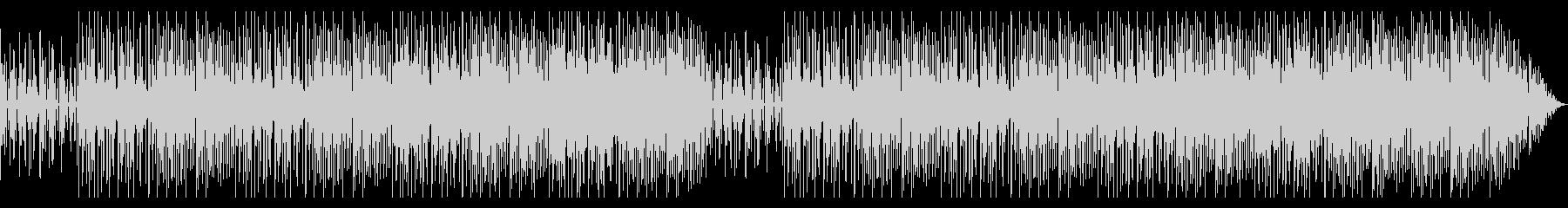 ソリッドで加速感のあるテクノ風ビートの未再生の波形