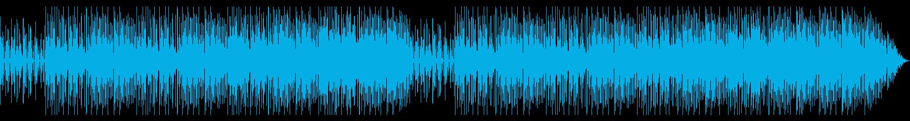 ソリッドで加速感のあるテクノ風ビートの再生済みの波形