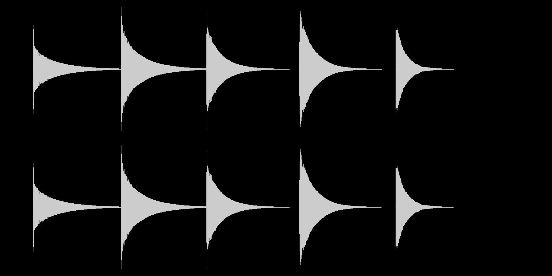 チャイム アナウンス08-3(5点 速いの未再生の波形