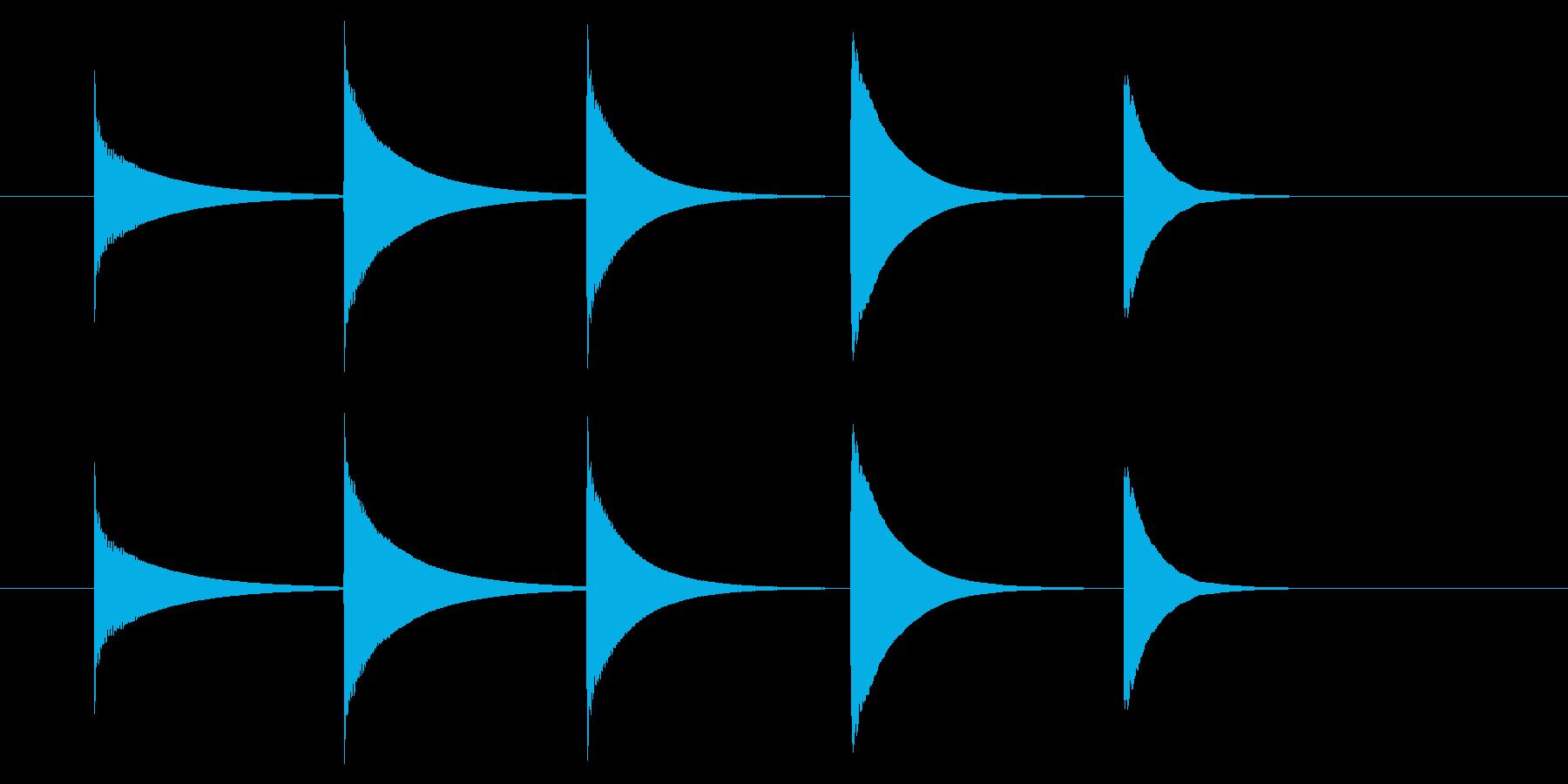 チャイム アナウンス08-3(5点 速いの再生済みの波形