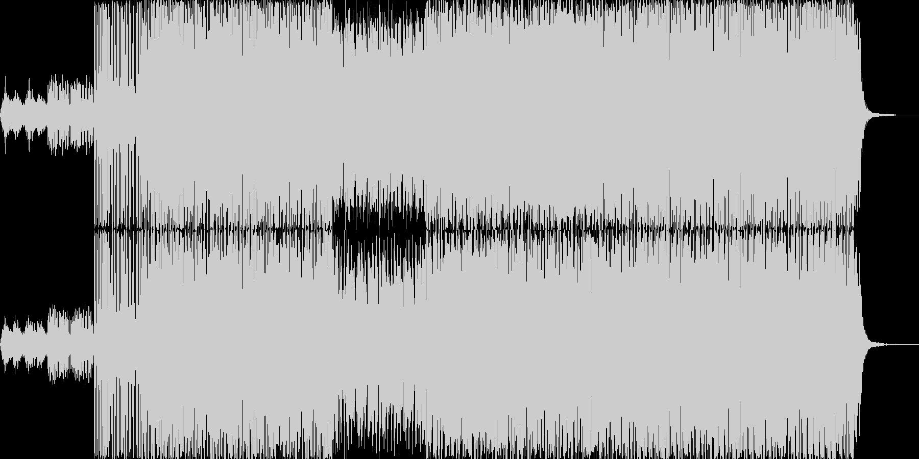 幻想的明るいエレクトロニカビートの未再生の波形