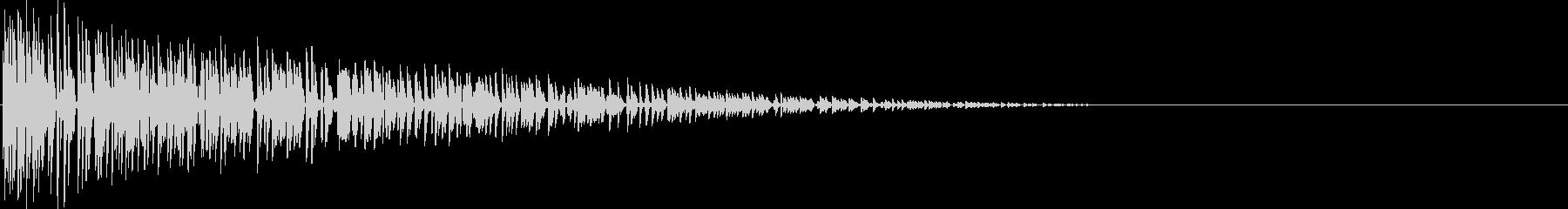 ファミコン風 バーン(爆弾が爆発する音)の未再生の波形