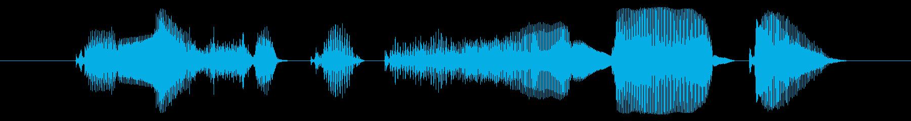 今すぐダウンロード!【②愛嬌/アニメ声】の再生済みの波形