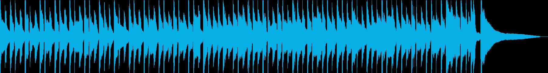 6/8拍子 シンプルで短いBGMの再生済みの波形