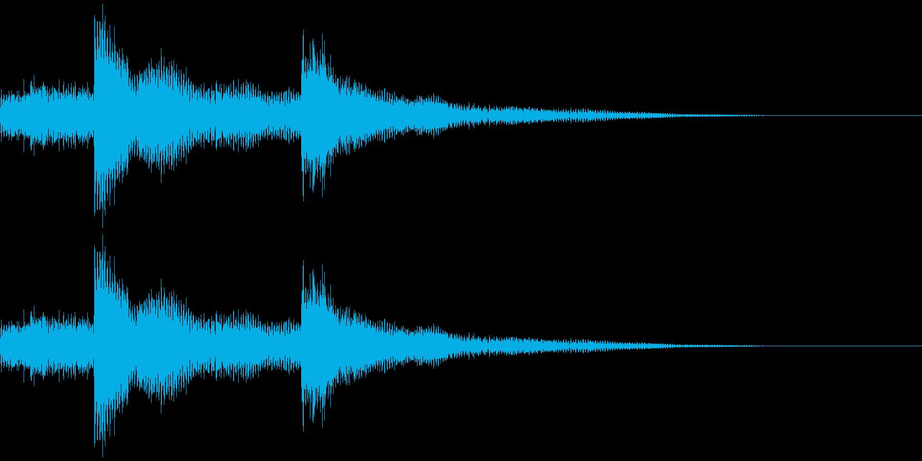 ウインドチャイム効果音(シャリーン)の再生済みの波形