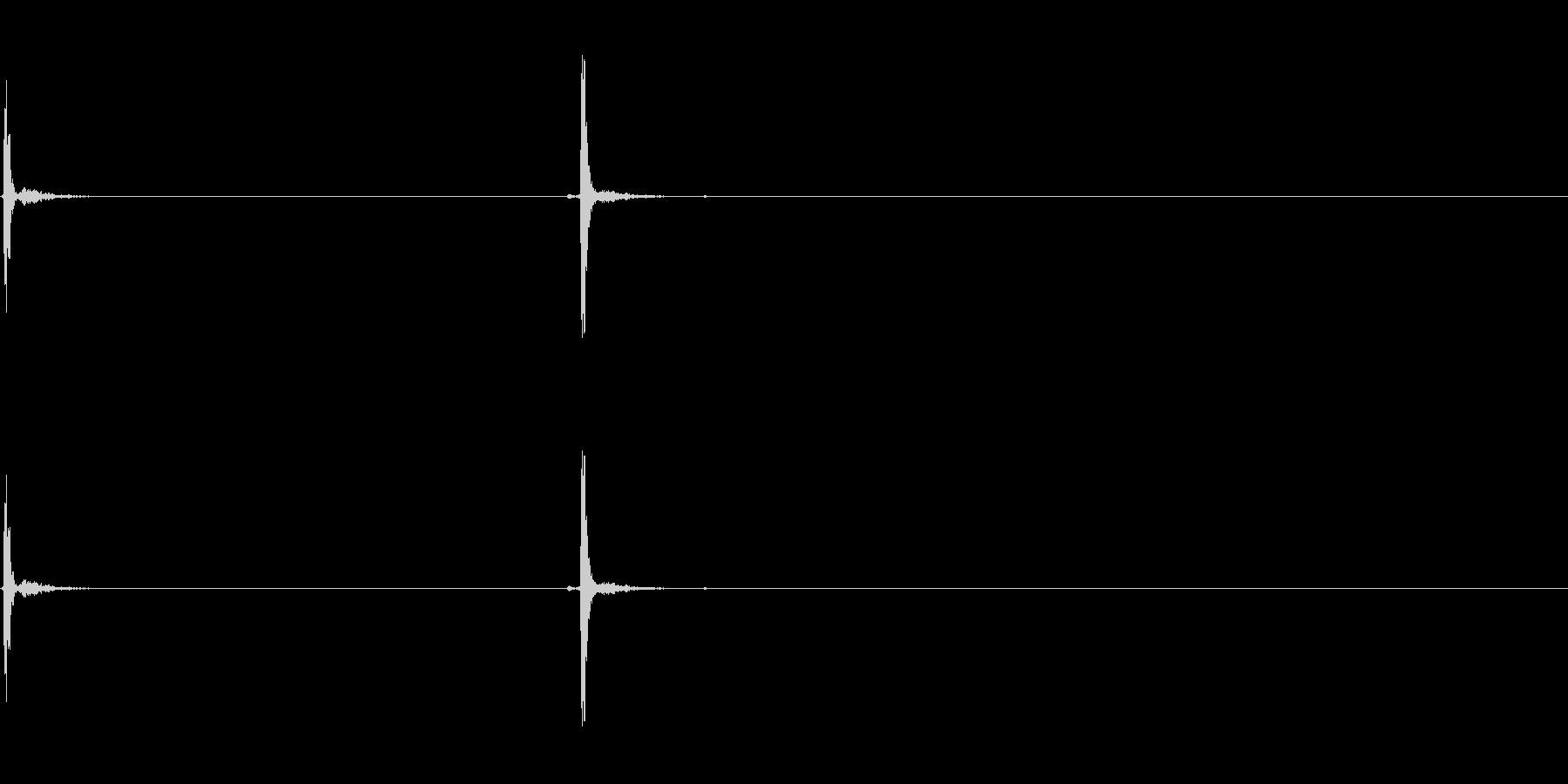 クリック、スイッチ、オン/オフペア...の未再生の波形