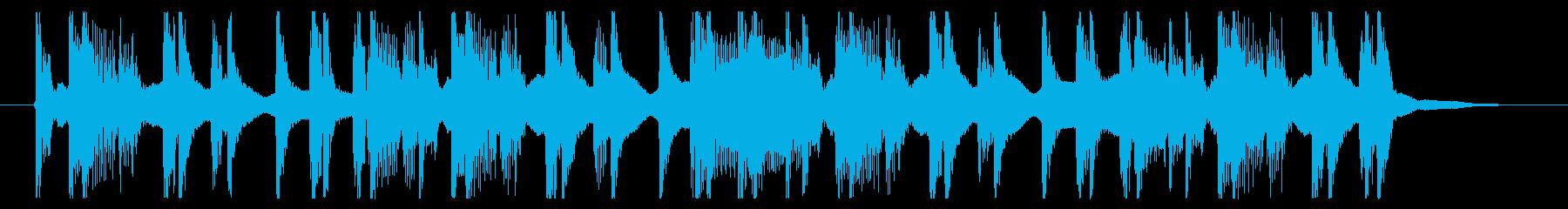 イタズラや尾行などをイメージしたBGMの再生済みの波形