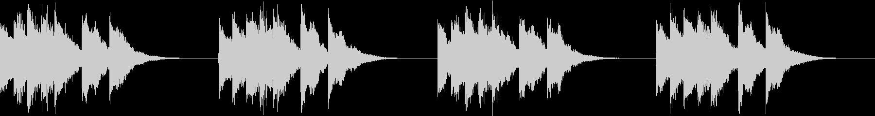シンプル ベル 着信音 チャイム A17の未再生の波形
