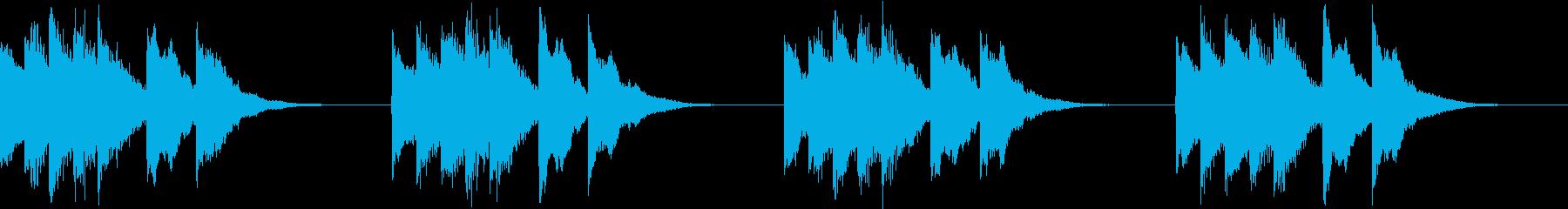 シンプル ベル 着信音 チャイム A17の再生済みの波形