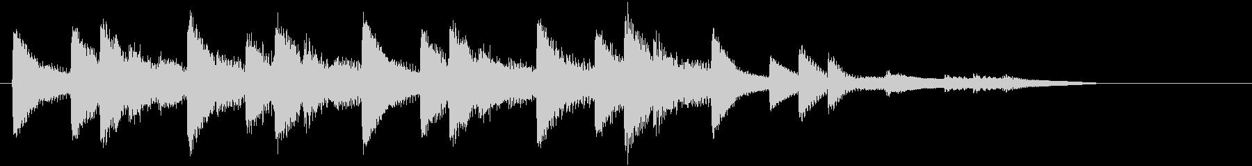 XmasキャロルオブザベルズジングルDの未再生の波形