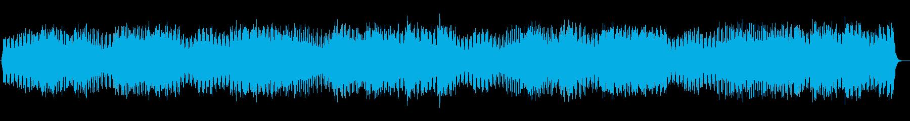 浮遊感のあるヒーリングミュージックの再生済みの波形