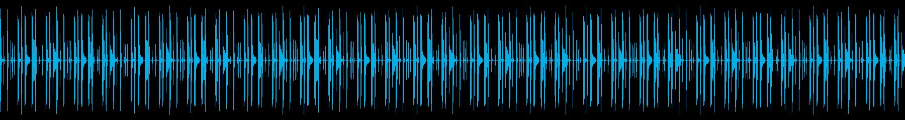 ドラムのみのドライな打ち込みリズムループの再生済みの波形
