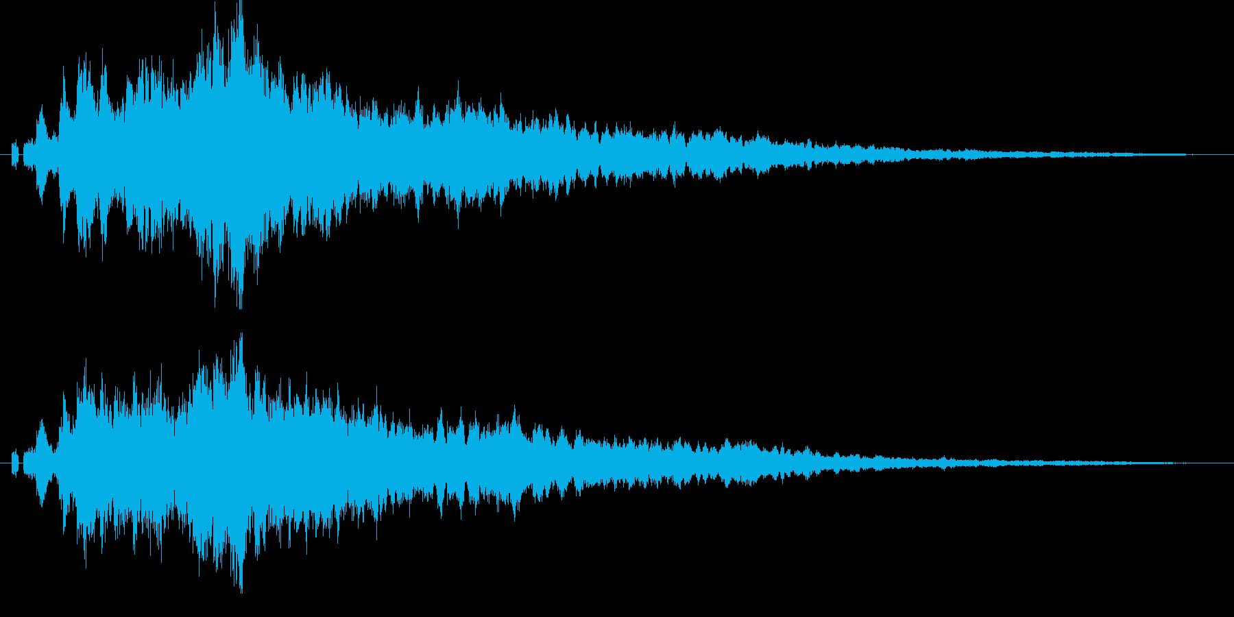 【キラキラ01】光や天使に最適な効果音!の再生済みの波形