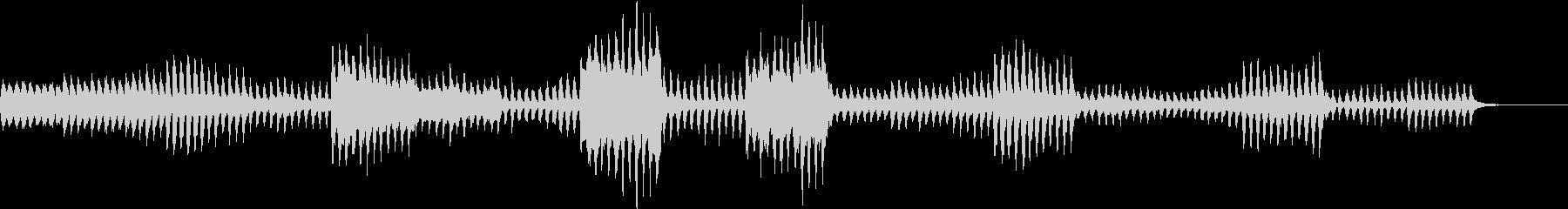 可愛らしく活発な曲の未再生の波形