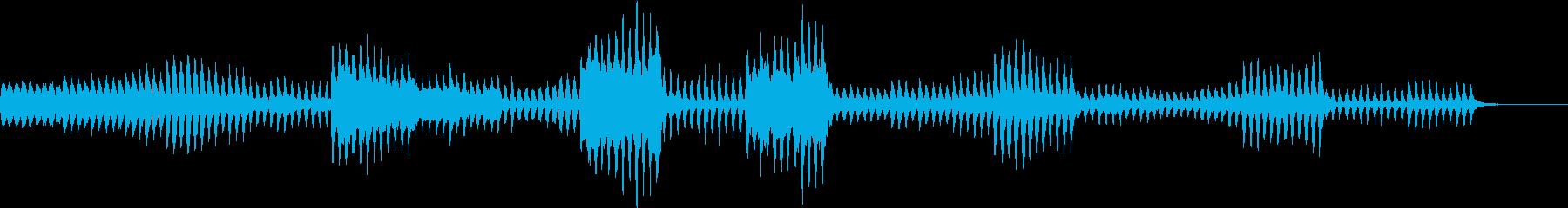 可愛らしく活発な曲の再生済みの波形