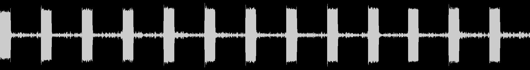 ハートモニターワントーンループの未再生の波形