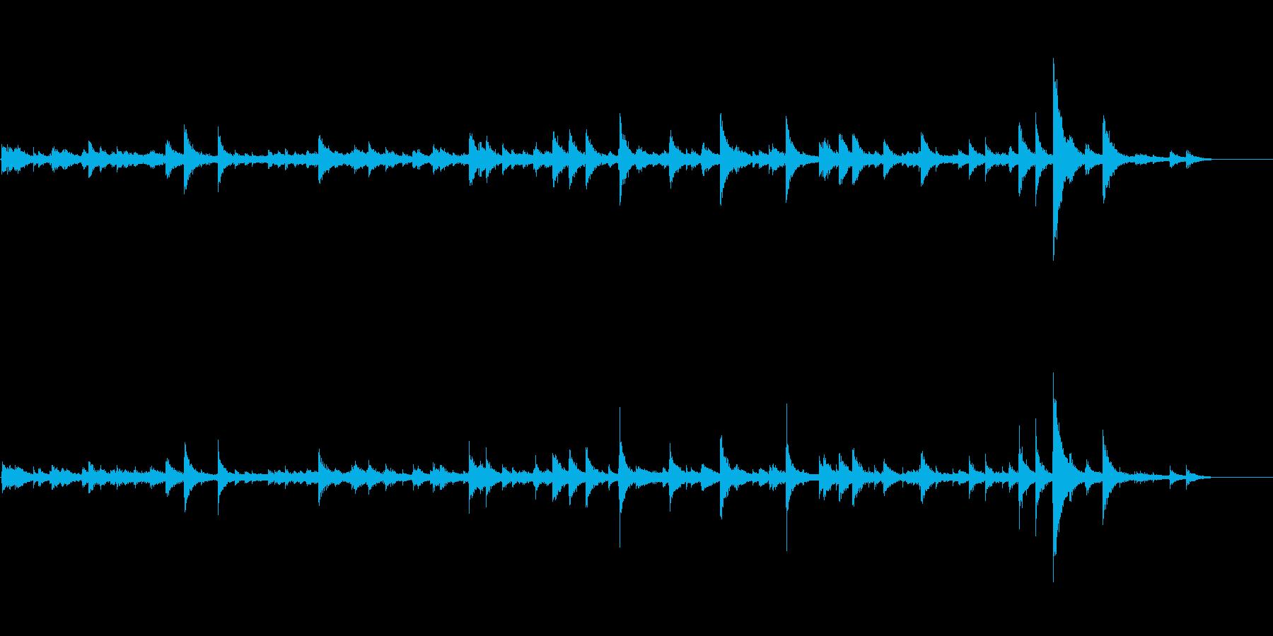 金属質な雰囲気のノイズ環境音の再生済みの波形