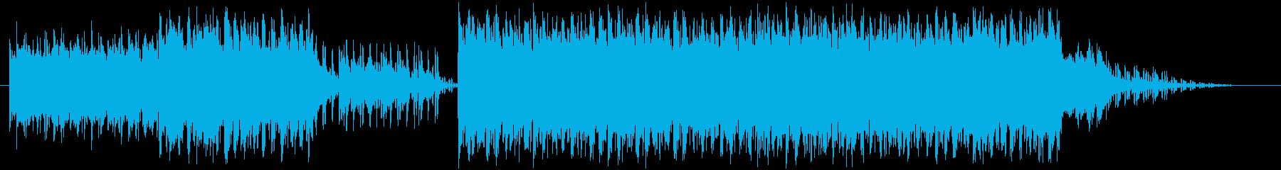 少しシリアスで早いアルペジオの今風な劇伴の再生済みの波形