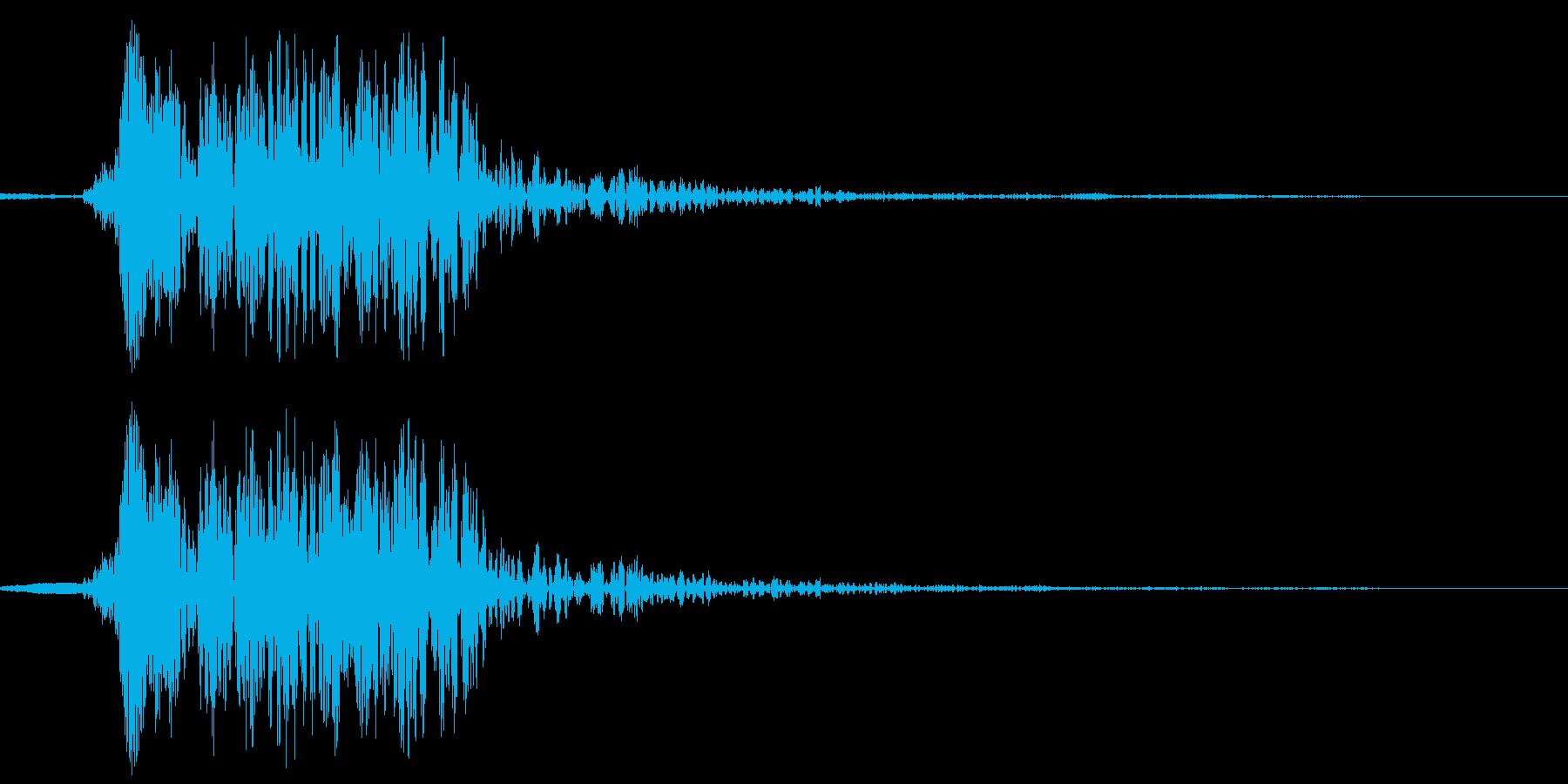 犬の鳴き声(ワンと一回吠える)の再生済みの波形