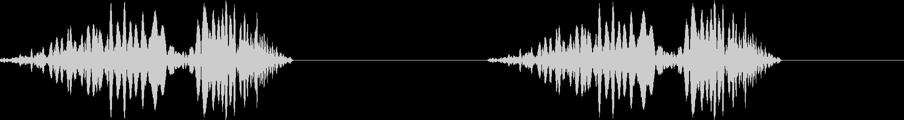 DJプレイ スクラッチ・ノイズ 179の未再生の波形