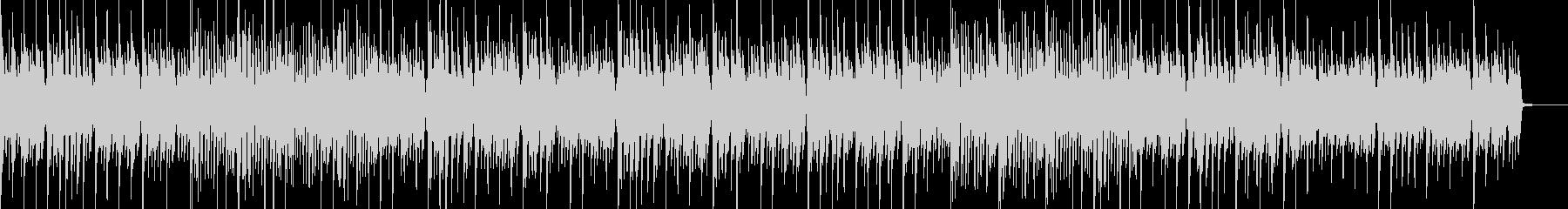 古いピアノが奏でる軽快なBGMの未再生の波形