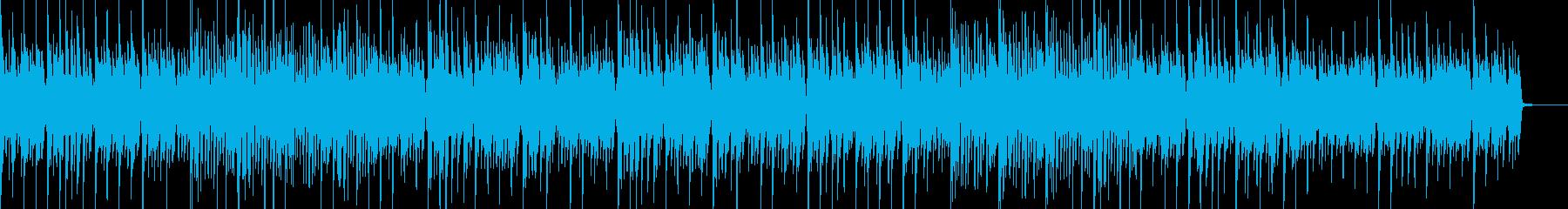 古いピアノが奏でる軽快なBGMの再生済みの波形